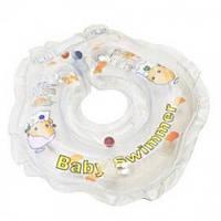 Круг на шею ТМ Baby Swimmer прозрачный с погремушками. Вес 3 - 12 кг