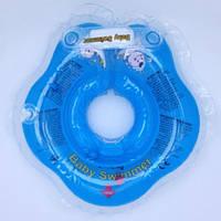 Круг на шею ТМ Baby Swimmer голубой. вес 3 - 12 кг.