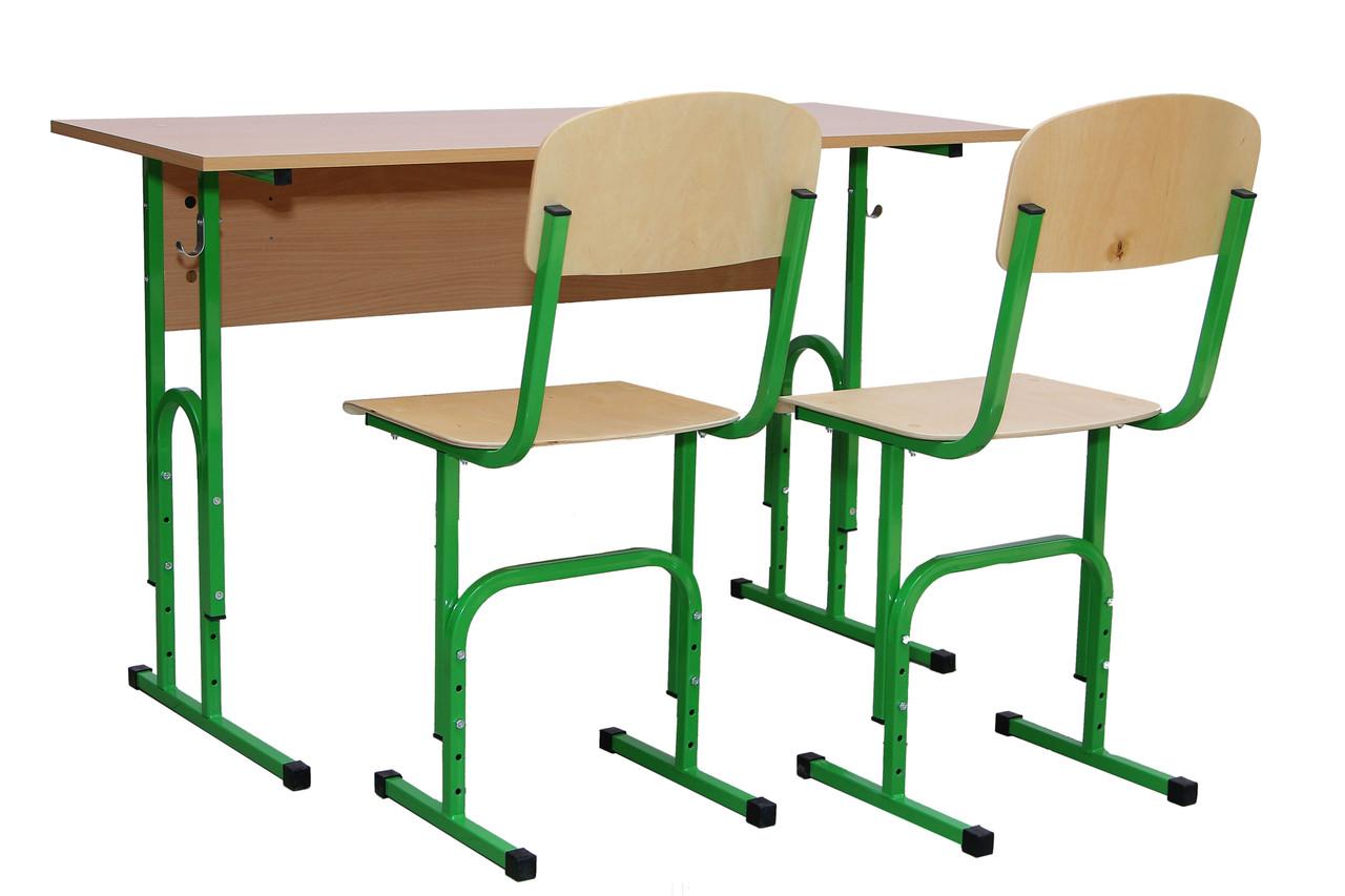 Комплект ученический регулируемый 2- местный (Парта+2стула)