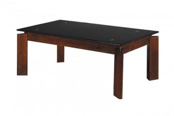 Журнальный столик Квадро 1200х650х440 черное стекло.