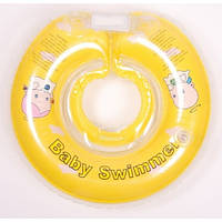 Круг на шею ТМ Baby Swimmer желтый. вес 8 - 36 кг.