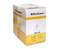 Dialan UTP cat5E, 4х2х0,48мм., (биметал),изоляция ПВХ, для внутренних работ, 305 м