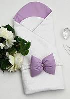 """Конверт """"Style"""" для новорожденных на выписку (фиолетовый)"""