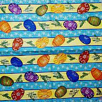"""Салфетка декупажная 33x33см 9 """"Яйца в синий ряд"""""""