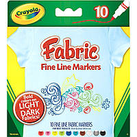 Crayola маркеры для рисования на ткани Fine Line Fabric Markers