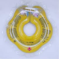 Круг на шею ТМ Baby Swimmer желтый. вес 3 - 12 кг.