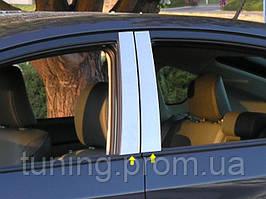 Хром-накладки дверных стоек Toyota Prius 2010-2012