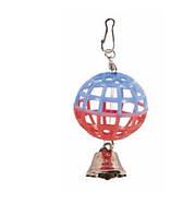 Игрушка для птиц шарик с колокольчиком, минимальный заказ 5 шт