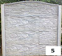 Забор бетонный карпатский камень