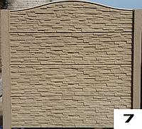 Забор бетонный римский камень