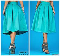 Женская юбка миди  с высокой посадкой