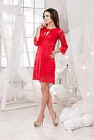 Женское платье из гипюра