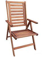 Складное деревянное кресло Strategic Mutiara (Малайзия) из тихоокеанской черешни Меранти, 72*57*102,5 см