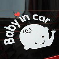 Наклейка Ребенок в Машине -  Baby in car