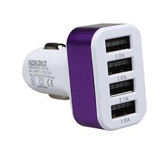 Зарядка USB в прикуриватель на 4 выхода, автомобильная зарядка usb  4 в 1 USB
