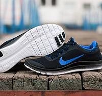 Кроссовки мужские Nike Free 3-0 V6 Black Blue черно-синее