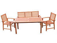 Деревянная садовая мебель Agata, 5 мест, черешня, прямоугольный стол