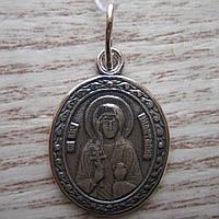Серебряная подвеска-ладанка Святая Анастасия