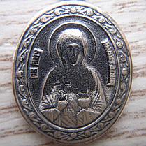 Серебряная подвеска-ладанка Святая Анастасия, фото 2