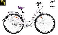 Женский велосипед Spelli City-28 белый, фото 1