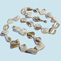 Перламутр белый, ромбики бусы