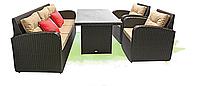 Садовая мебель из искусственного ротанга «Ривьера»: комфорт в шоколадных тонах