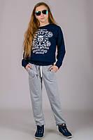 Детские спортивные штаны светло-серые, фото 1