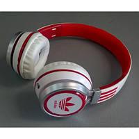 Наушники накладные Adidas AD-188 Бело-красные