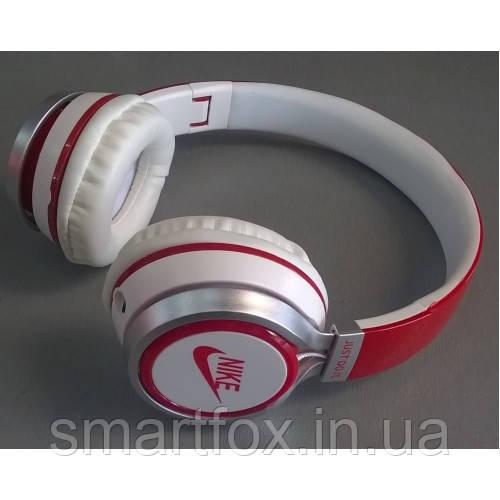 Наушники накладные Nike NK-198 Бело-красные