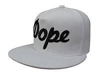 Белая кепка DOPE