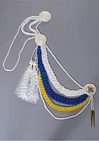 Аксельбанты: 3-х цветные, белый, желтый, золотой, фото 1