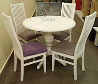Круглый раздвижной стол + 4 стула Сандра