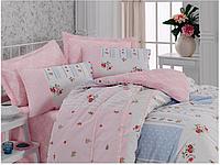 Двуспальный двусторонний евро комплект постельного белья Cotton Box Telma Somon, ранфорс, Турция