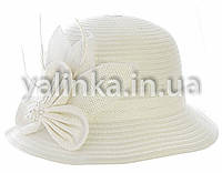 "Шляпа летняя ""Цветочек"" белая"