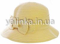 "Шляпа летняя ""Бантик"" бежевая"