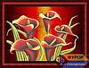 Схема для вышивки бисером - Цветы каллы, Арт. НБч2-012-2