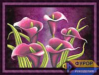 Схема для вышивки бисером - Красивые цветы каллы, Арт. НБч2-012-3