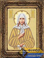 Схема иконы для вышивки бисером - Ксения Святая Блаженная, Арт. ИБ4-024-2