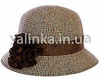 """Шляпа летняя """"Розочка"""" коричневая темная"""