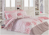 Двуспальный двусторонний евро комплект постельного белья Cotton Box Sonya Pudra, ранфорс, Турция