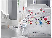 Двуспальный двусторонний евро комплект постельного белья Cotton Box Spring Fusya, ранфорс, Турция,