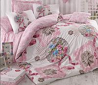 Двуспальный двусторонний евро комплект постельного белья Cotton Box Merciful, ранфорс, Турция,
