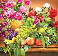 Фотообои  для кухни Фрукты с цветами