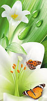 Фотообои узкие Лилии размер 97 х 210 см