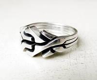 """Серебреное кольцо """"Вечный лабиринт"""" от Wickerring"""