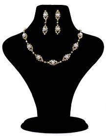 """Кольє і сережки набір весільної біжутерії для нареченої """"Ніжність"""""""