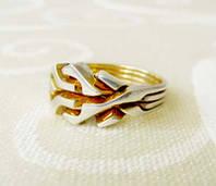 Кольцо из серебра и золота «Золотой перст» от Wickerring