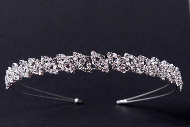 Диадема, корона свадебная на голову для невесты Dia 285