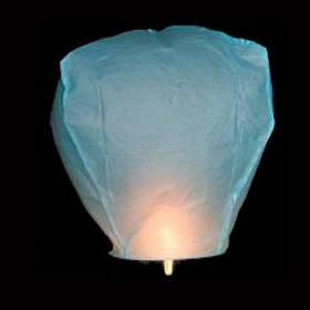 Небесный фонарик Купол (голубой)