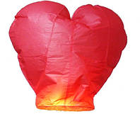 Небесный фонарик Сердце красный